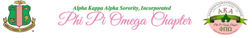 Alpha Kappa Alpha Sorority, Incorporated Phi Pi Omega Chapter